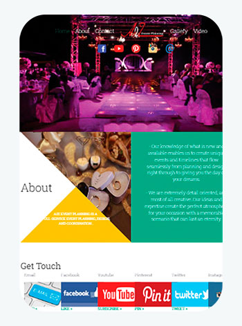 A2Z Event Planning - The site presents the work of a company specializing in the field of organizing parties and weddings - Summahost